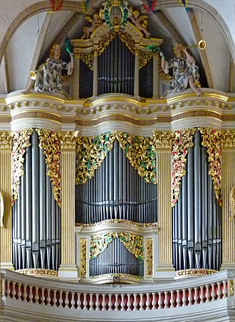 Gottfried Silbermann - Silbermann organ in Freiberg Cathedral