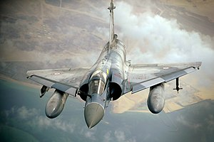 French Mirage 2000 finishes refueling from KC-10A 2009-12-06 mod1.jpg
