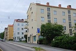 Fridhemsgatan i Senderne med de for området typiske funktionalistiske huse.