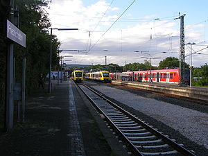 Friedrichsdorf station - S-Bahn and Taunusbahn services meeting at the station