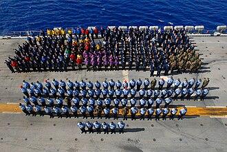 Frocking - Frocking ceremony on board USS Peleliu