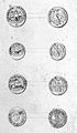 Front and reverse of four coin-like objects known as 'royal Wellcome L0026458.jpg