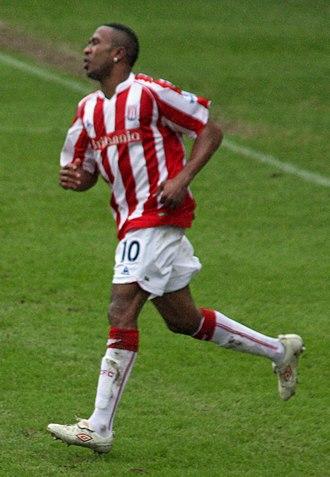 Ricardo Fuller - Fuller playing for Stoke City in 2010