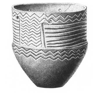 Wetland deposits in Scandinavia - In the Early and Middle Neolithic, funnel beakers, such as that depicted here, were deposited in Scandinavian wetlands