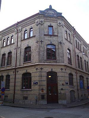 Göteborgs Handels- och Sjöfartstidning - The building in which the newspaper had its office
