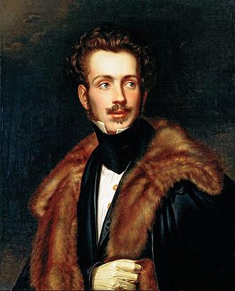 Auguste, Duke of Leuchtenberg - Portrait by G. Dury, c. 1835