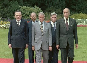 Takeo Fukuda - Fukuda (second from left) during the G7 meeting in 1978