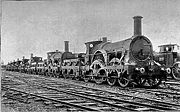 Great Western Railway broad gauge steam locomotives awaiting scrapping in 1892 after the conversion to standard gauge.
