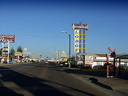 Motels and businesses in Gallup