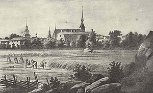 Vaasa - Old Vaasa in the 1840s by Johan Knutsson