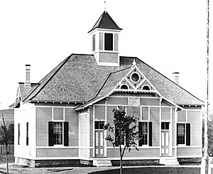 Garfield School (Brunswick, New York) - View of the school shortly after completion, c. 1881