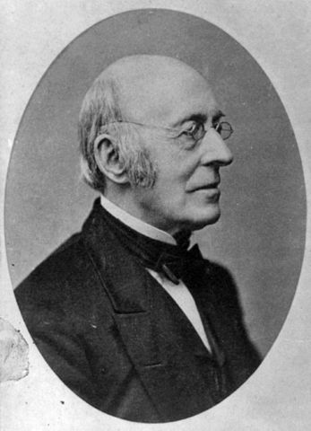 William Lloyd Garrison, abolitionist and one of Douglass's first friends in the North