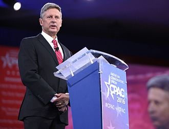 Gary Johnson presidential campaign, 2016 - Gary Johnson speaking at the 2016 CPAC in Washington, D.C.