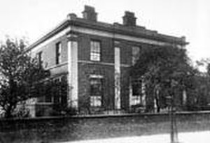 84 Plymouth Grove - The house, pictured in 1913, the year that the Gaskells' occupancy ended
