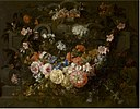Gaspar-Pieter Verbruggen (II) - Cartouche with Flowers - WGA24565.jpg