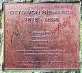 Gedenktafel Bismarckplatz (Grunw) Otto von Bismarck.JPG