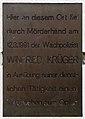 Gedenktafel Kirschenallee 21 (Weste) Winfried Krüger.jpg