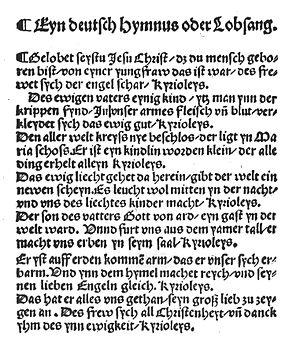 Gelobet seist du, Jesu Christ - Image: Gelobet seist du, Jesu Christ (1524)
