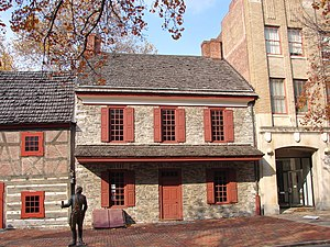 Conway Cabal - The General Gates House in York, Pennsylvania where a key meeting of the cabal was reportedly held.