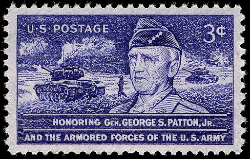 General Patton 3c 1953 issue U.S. stamp
