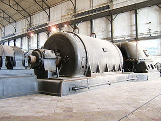 Machine - Early Ganz Electric Generator in Zwevegem, West Flanders, Belgium