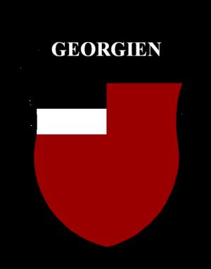 Georgian Legion (1941–45) - Insignia of the Georgian Legion, featuring the flag of the First Georgian Republic