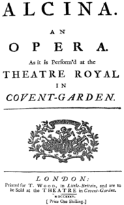 Georg Friedrich Händel - Alcina title page of the libretto - London 1735.png