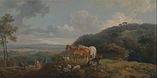 Morning: Landscape with Mares and Sheep