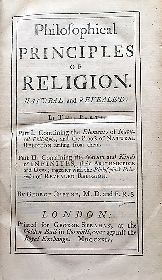 George Cheyne (physician) - Image: George Cheyne's Philosophical Principles, Part I and II, 1724