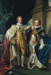 Benjamin West: George IV, when Prince of Wales, with Frederick, Duke of York, when Prince Frederick
