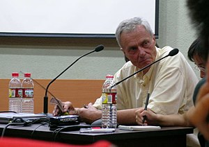George Schaller - Schaller at a 2005 lecture in the Beijing Zoo