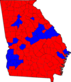 Georgia Senatorial Runoff Election Results by county, 2008.png