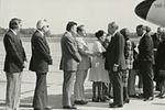 Gerald Ford deplaning at Patrick Henry Airport before third debate13.jpg