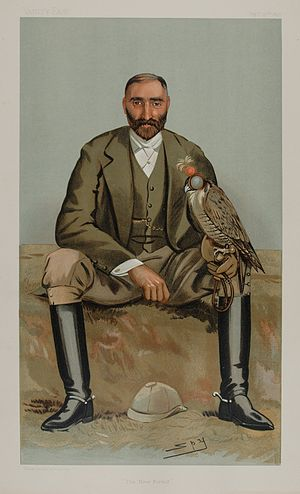 Gerald William Lascelles - 1897 Vanity Fair caricature by Spy.