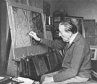 Gerardo Dottori - Gerardo Dottori in his studio