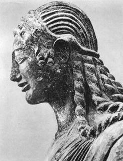Apollo of Veii Late 6th century BC painted terracotta Etruscan statue of Apollo