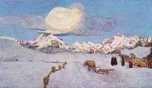 Trittico delle Alpi: Morte (1898-1899) di Giovanni Segantini, Museo Segantini, St. Moritz