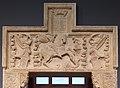 Giovanni gagini (bottega), portale con san giorgio e il drago, genova 1460 ca. 02.jpg