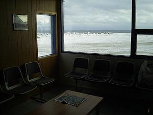 Gjögur Airport - Passenger terminal waiting area for the flight to Reykjavik