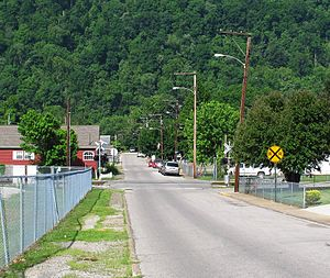 Glasgow, West Virginia - Looking west on 3rd Street in Glasgow