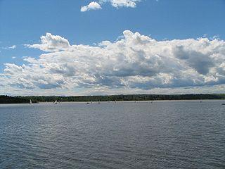Glenmore Reservoir lake in Canada