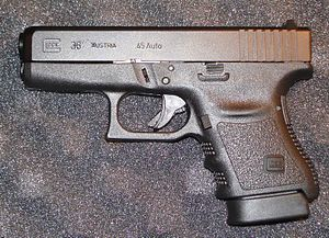 English: Photo taken of a Glock 36 for Wikipedia