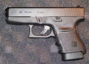 English: Photo taken of a Glock 36 for Wikipedia