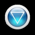 Glossy 3d blue arrowhead down.png