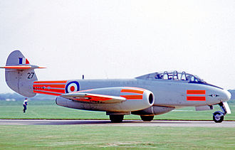Central Flying School - Gloster Meteor T.7 of the CFS at RAF Coltishall in 1969