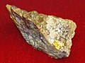 Gold-quartz-galena-garnet (Battle Branch Mine, Georgia, USA) (16976083387).jpg