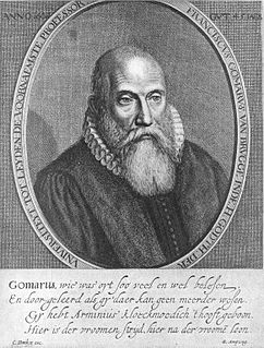 Franciscus Gomarus Dutch theologian
