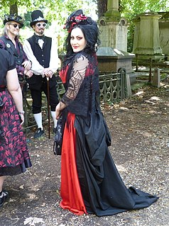 Gothic fashion A clothing style marked by conspicuously dark, mysterious, antiquated and homogeneous features
