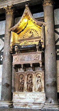 Tomb of Antipope John XXIII in Florence's Baptistery.