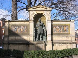 Albrecht von Graefe - Memorial at the Charité Berlin by Rudolf Siemering